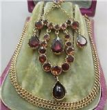 Superb early Victorian late Georgian 18ct Almandine Garnet pendant and 9ct chain